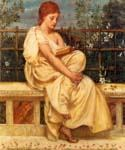 Reading by  Sir Edward John Poynter (Painting ID: CL-1118-KA)