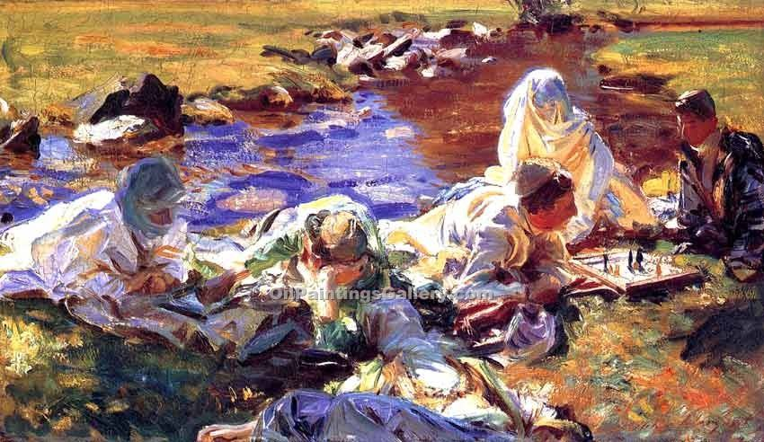 """Reapers 01"" by  John Singer Sargent"