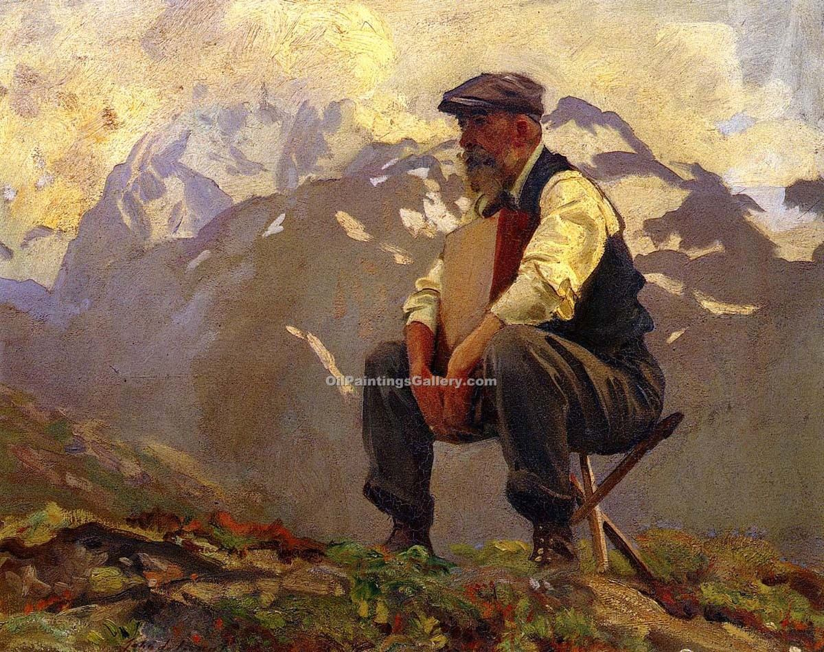 Reconnoitering by John Singer Sargent | Paintings Replicas - Oil Paintings Gallery
