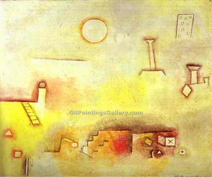 """Reconstructin"" by  Paul Klee"