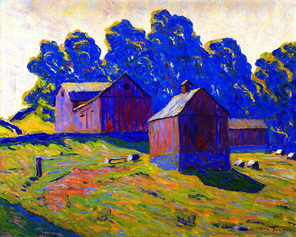 """Red Barns"" by  Alan Tucker"