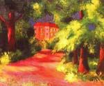 Red House in a Park by  August Macke (Painting ID: AB-0307-KA)