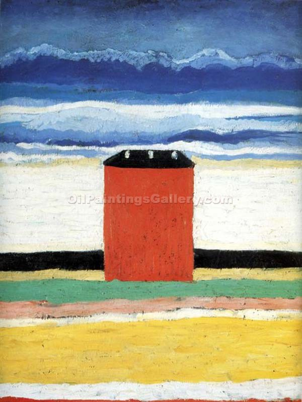 """Red House"" by  Kasimir Malevich"