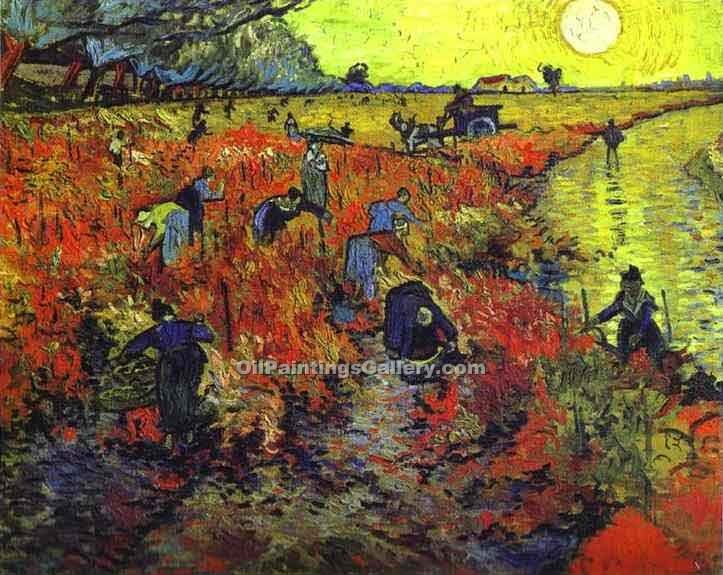 """Red Vineyards of Arles"" by  Vincent Van Gogh"