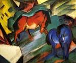 Red and Blue Horses by  Franz Marc (Painting ID: AB-0168-KA)