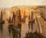 Red and Gold Brixham by  Terrick Williams (Painting ID: LA-1804-KA)
