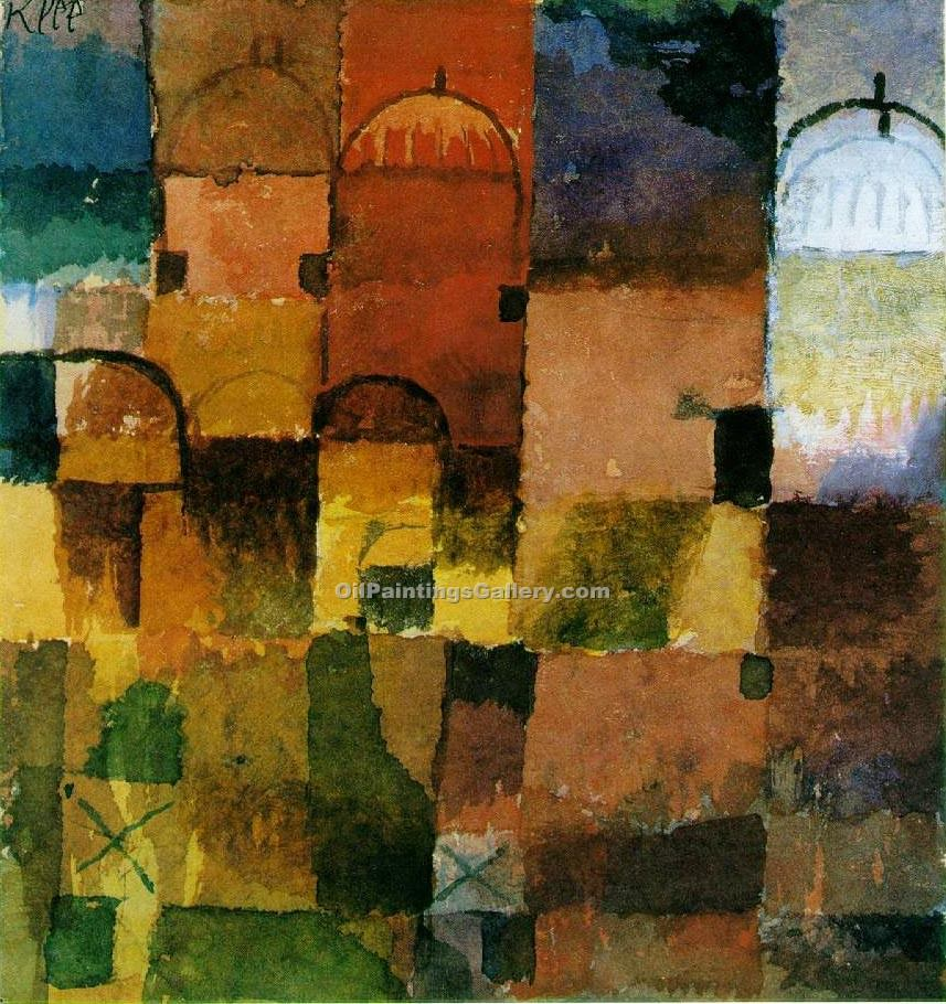"""Red and White Domes"" by  Paul Klee"