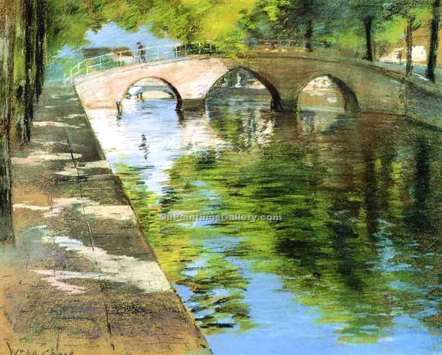 """Reflections Canal Scene"" by  William Merritt Chase"