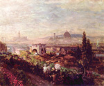 Regard to Florence by  Oswald Achenbach (Painting ID: LA-0693-KA)