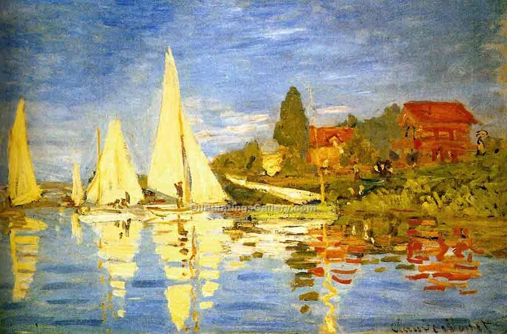 Regatta at Argenteuil by Claude Monet | African American Paintings - Oil Paintings Gallery