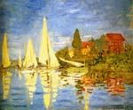 Regatta at Argenteuil by  Claude Monet (Painting ID: MO-0886-KA)
