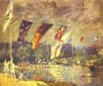 Regattas at Molesey by  Alfred Sisley (Painting ID: LA-0355-KA)