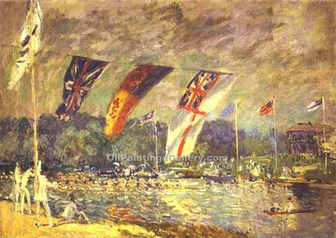 """Regattas at Molesey"" by  Alfred Sisley"