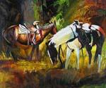 Resting Horses  (Painting ID: AN-2155-KA)