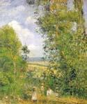 Resting in the Woods at Pontoise by  Camille Pissarro (Painting ID: LA-0944-KA)