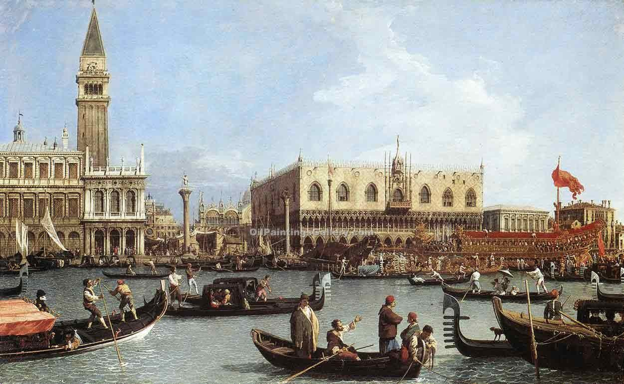 """Return of the Bucentaurn to the Molo on Ascension Day"" by  Antonio Canaletto"