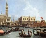 Return of the Bucentaurn to the Molo on Ascension Day by  Antonio Canaletto (Painting ID: CI-2025-KA)