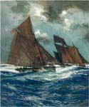 Revenue Cruiser chasing Smuggling Lugger by  Charles Edward Dixon (Painting ID: CI-3124-KA)