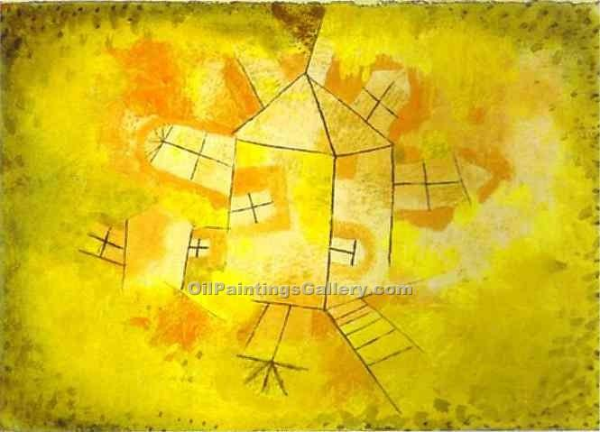 """Revolving House"" by  Paul Klee"