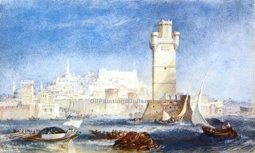 Rhodes by William Turner | Abstract Acrylic Paintings - Oil Paintings Gallery