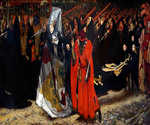 Richard Duke of Gloucester and the Lady Anne by  Edwin Austen Abbey (Painting ID: ED-0157-KA)