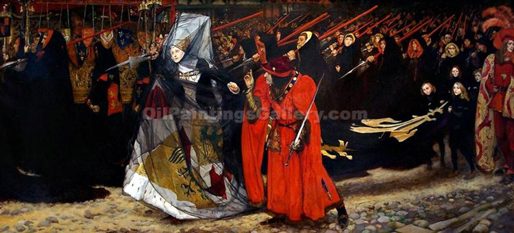 """Richard Duke of Gloucester and the Lady Anne"" by  Edwin Austen Abbey"