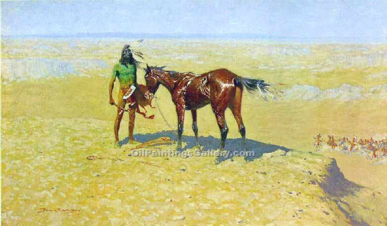"""Ridden Down"" by  Frederic Remington"