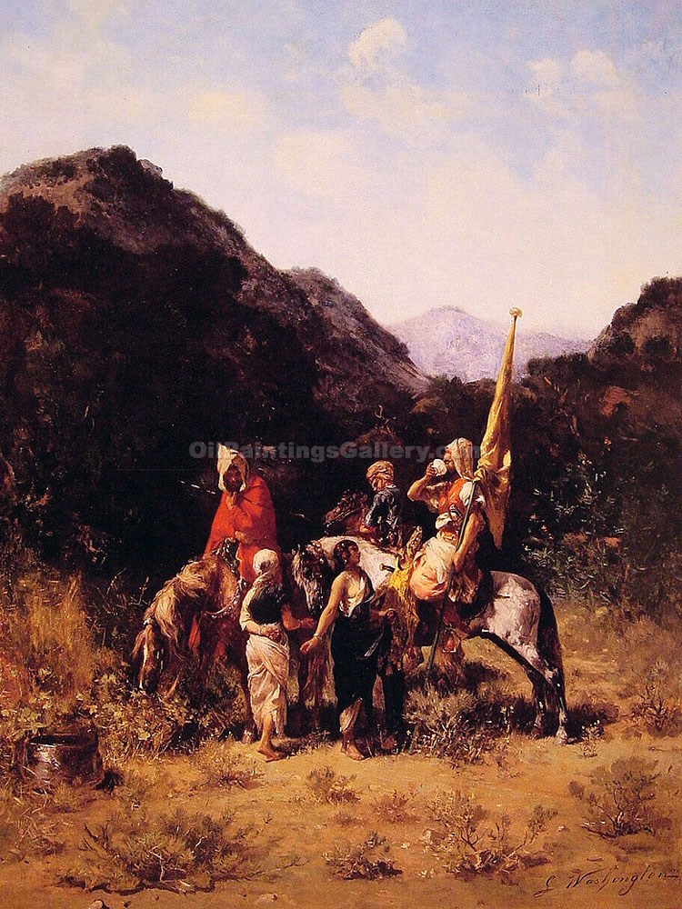 """Riders in the Mountain"" by  Georges Washington"