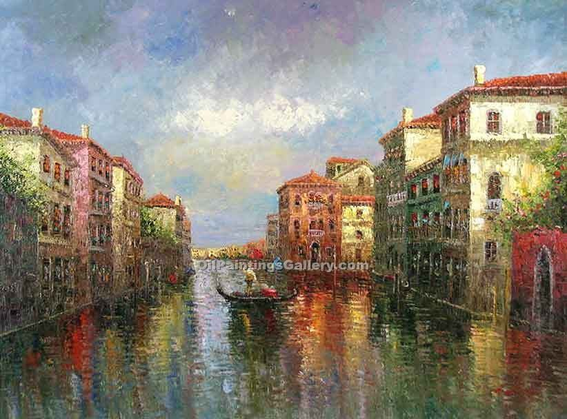 Buy City Oil Paintings Online | Realism & Naturalism styles | Rio Di St. Moise 95
