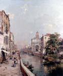 Rio St. Geronimo Venezia by  Franz Richard Unterberger (Painting ID: CI-1538-KA)