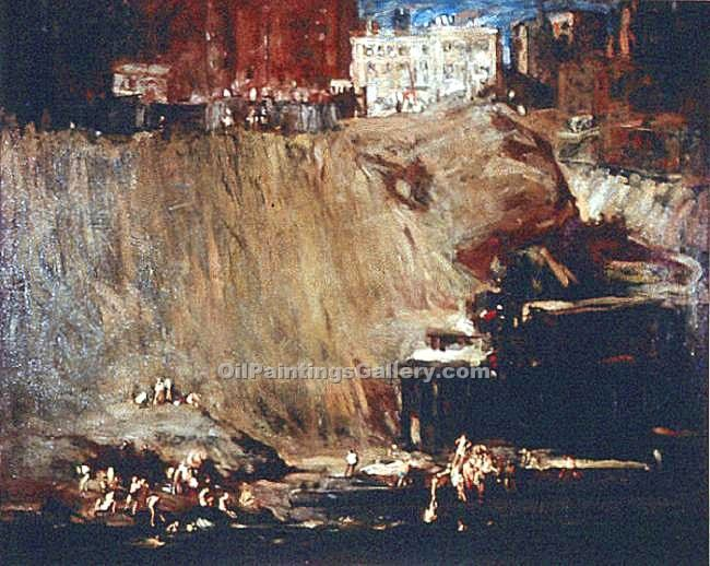 """River Rats"" by  George Bellows"