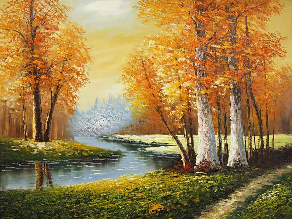River Through the Woods (Painting ID: LA-5892-KA) (Specials)  River