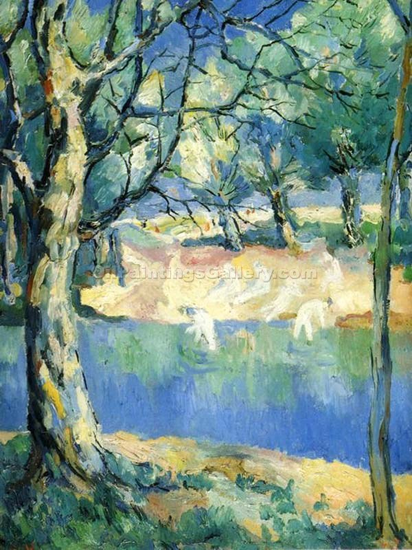 """River in a Forest"" by  Kasimir Malevich"