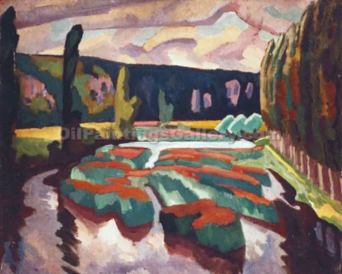 """River with Poplars"" by  Roger Eliot Fry"