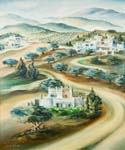 Road to Jerusalem by  Dan Livni (Painting ID: AD-0319-KA)