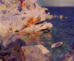 Rocks at Javea by  Bastida Joaquin Sorolla (Painting ID: CL-0764-KA)