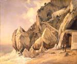 Rocks in Amalfi by  Jean Baptiste Corot (Painting ID: CO-0874-KA)