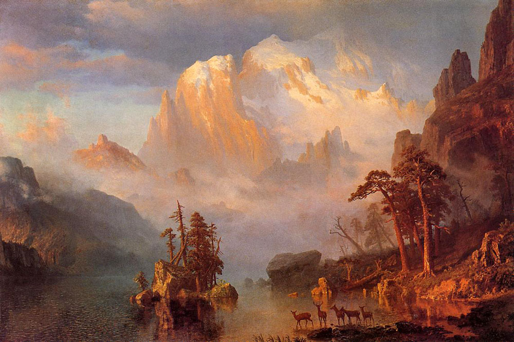 """Rocky Mountains"" by  Albert Bierstadt"