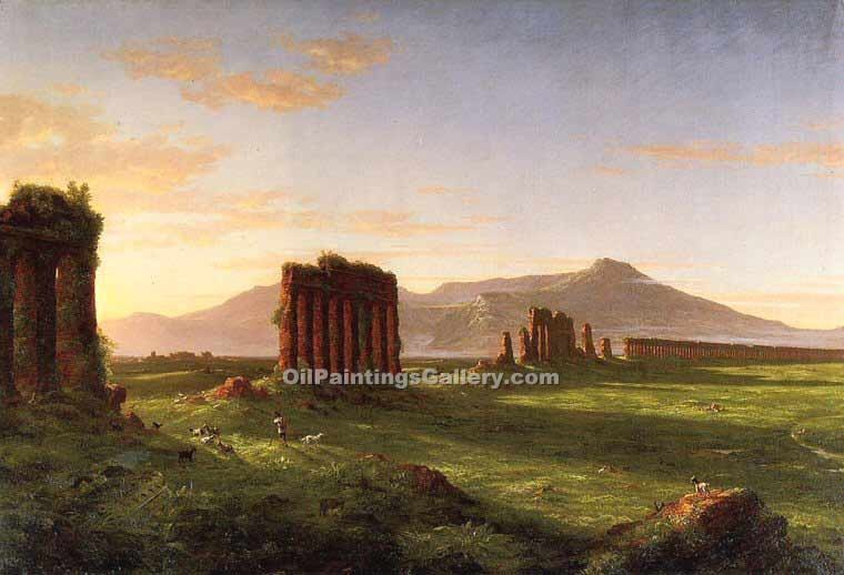 """Roman Campagna"" by  Thomas Cole"