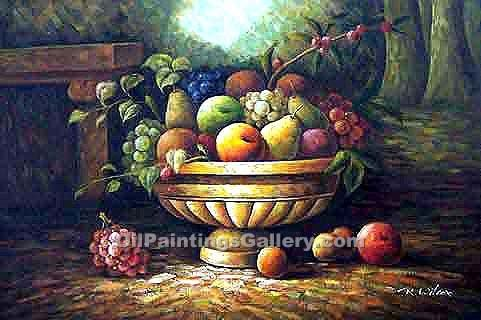 """Roman Carafe with Fruit"""