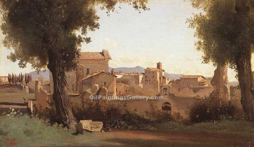 """Rome View from the Farnese Gardens Morning"" by  Jean Baptiste Corot"