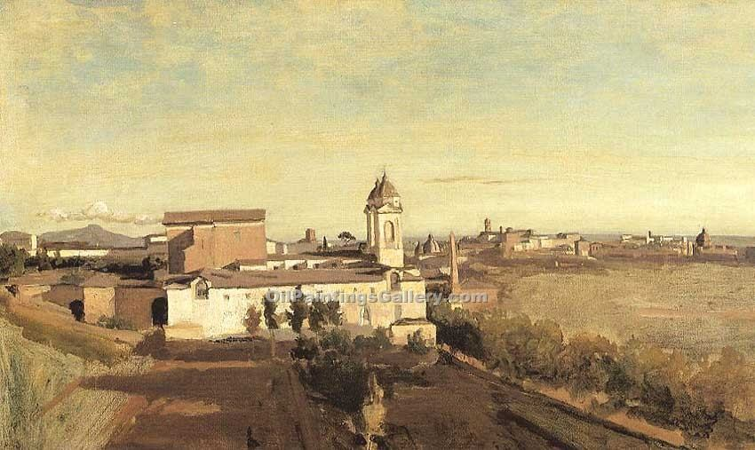 """Rome the Convent of Sant-Onofrio 15"" by  Jean Baptiste Corot"