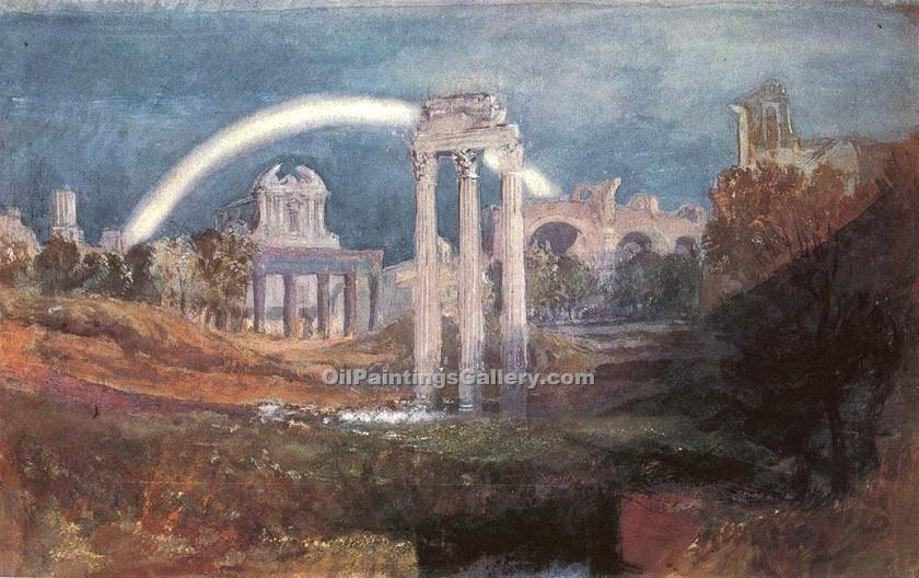"""Rome the Forum with a Rainbow"" by  William Turner"