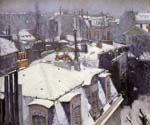 Rooftops Under Snow by  Gustave Caillebotte (Painting ID: CI-0724-KA)
