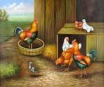 Roosters 67 Oil Painting (ID: AN-0967-C)