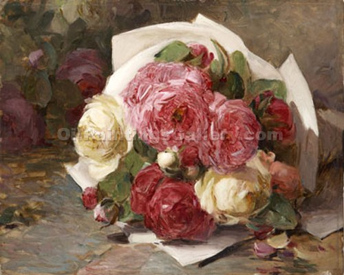 Roses 03 by Georges Jeannin | Best Place To Buy Paintings Online - Oil Paintings Gallery