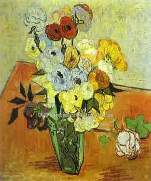 """Roses and Anemnes"" by  Vincent Van Gogh"