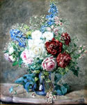Roses in a Vase by  Francois Rivoire (Painting ID: SL-0026-KA)