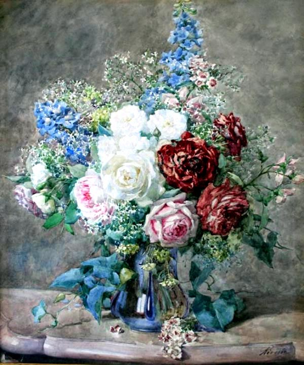 """Roses in a Vase"" by  Francois Rivoire"