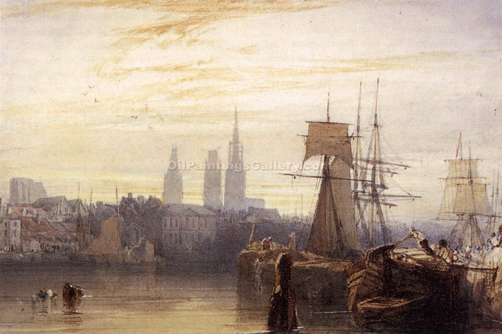 Rouen by Richard Parkes Bonington | Paintings Reproductions - Oil Paintings Gallery